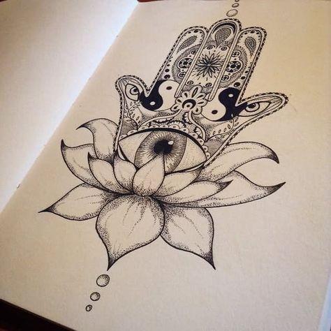 Hamsa Hand Tattoo Designs (47)