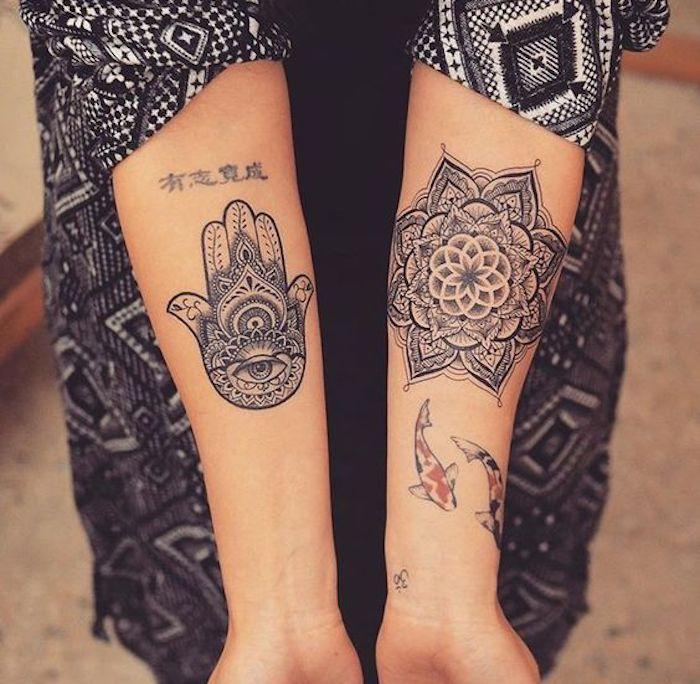Hamsa Hand Tattoo Designs (48)