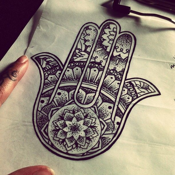 Hamsa Hand Tattoo Designs (50)