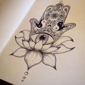 Hamsa Hand Tattoo Designs (54)