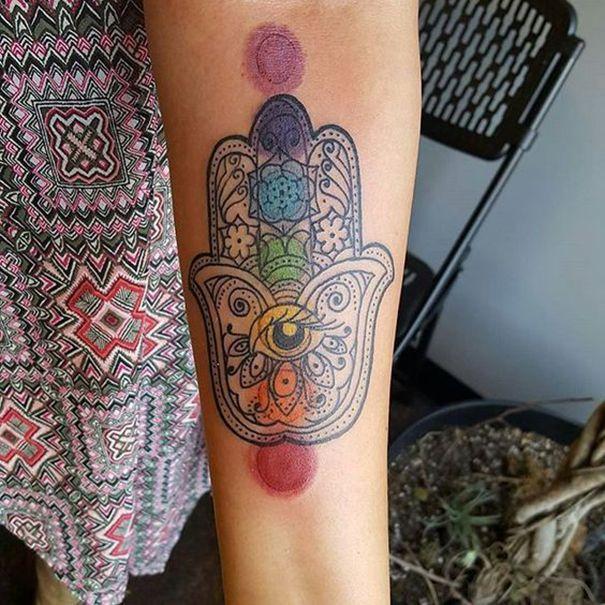Hamsa Hand Tattoo Designs (55)