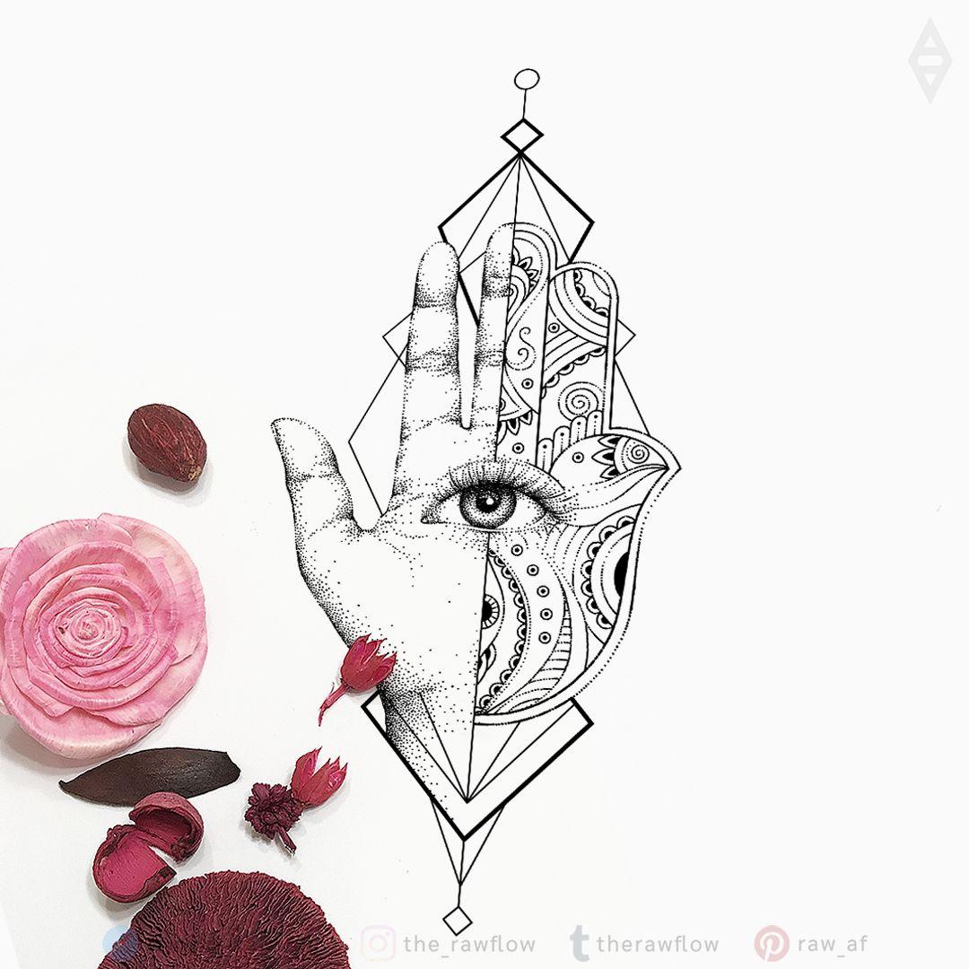 Hamsa Hand Tattoo Designs (59)