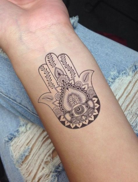 Hamsa Hand Tattoo Designs (82)