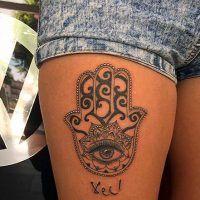Hamsa Hand Tattoo Designs (88)