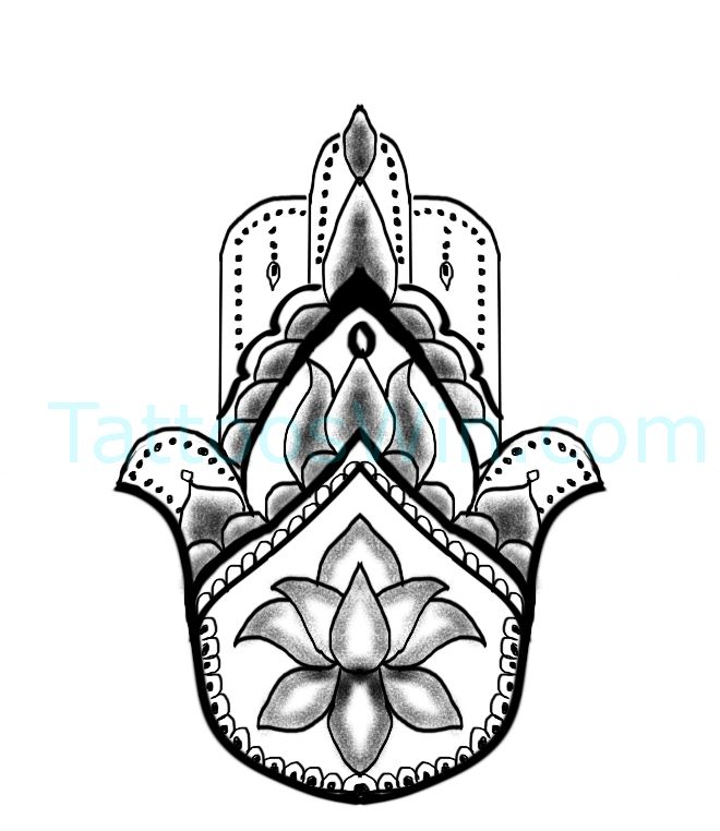 Hamsa Hand Tattoo Designs (95)