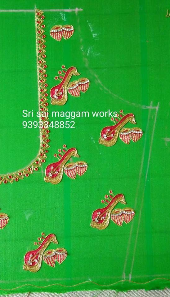 Maggam Work Blouse Designs (129)