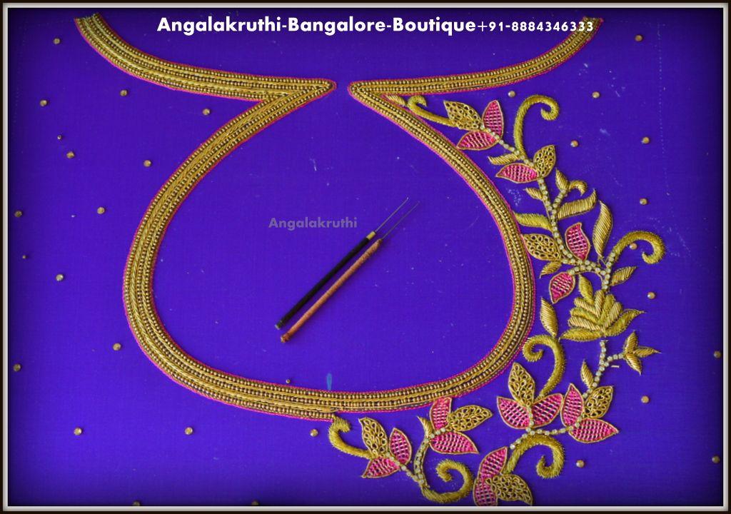 Maggam Work Blouse Designs (13)