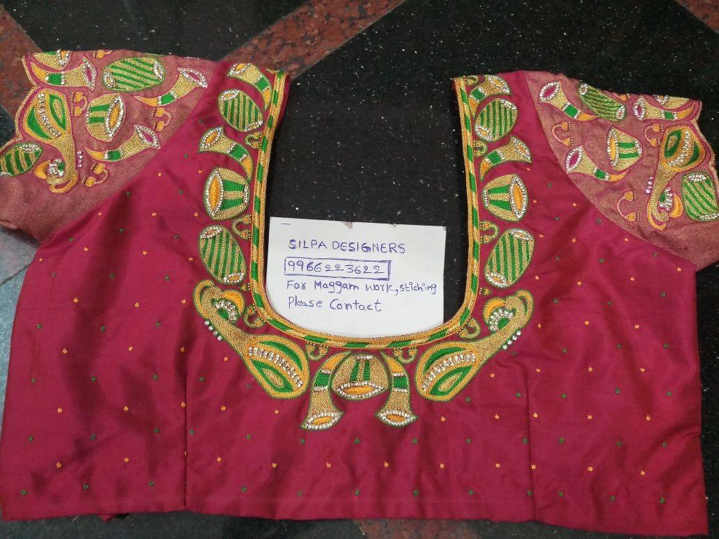 Maggam Work Blouse Designs (146)