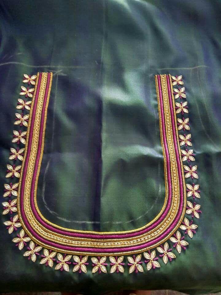 Maggam Work Blouse Designs (157)