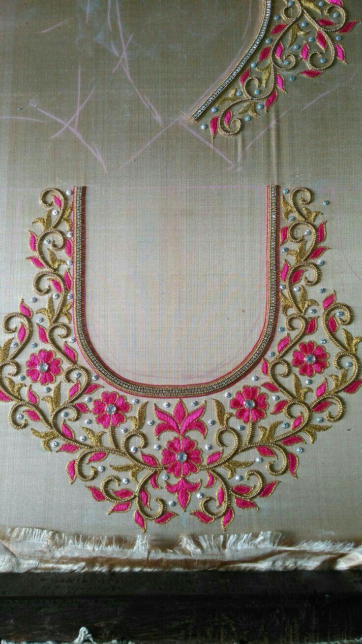 Maggam Work Blouse Designs (16)