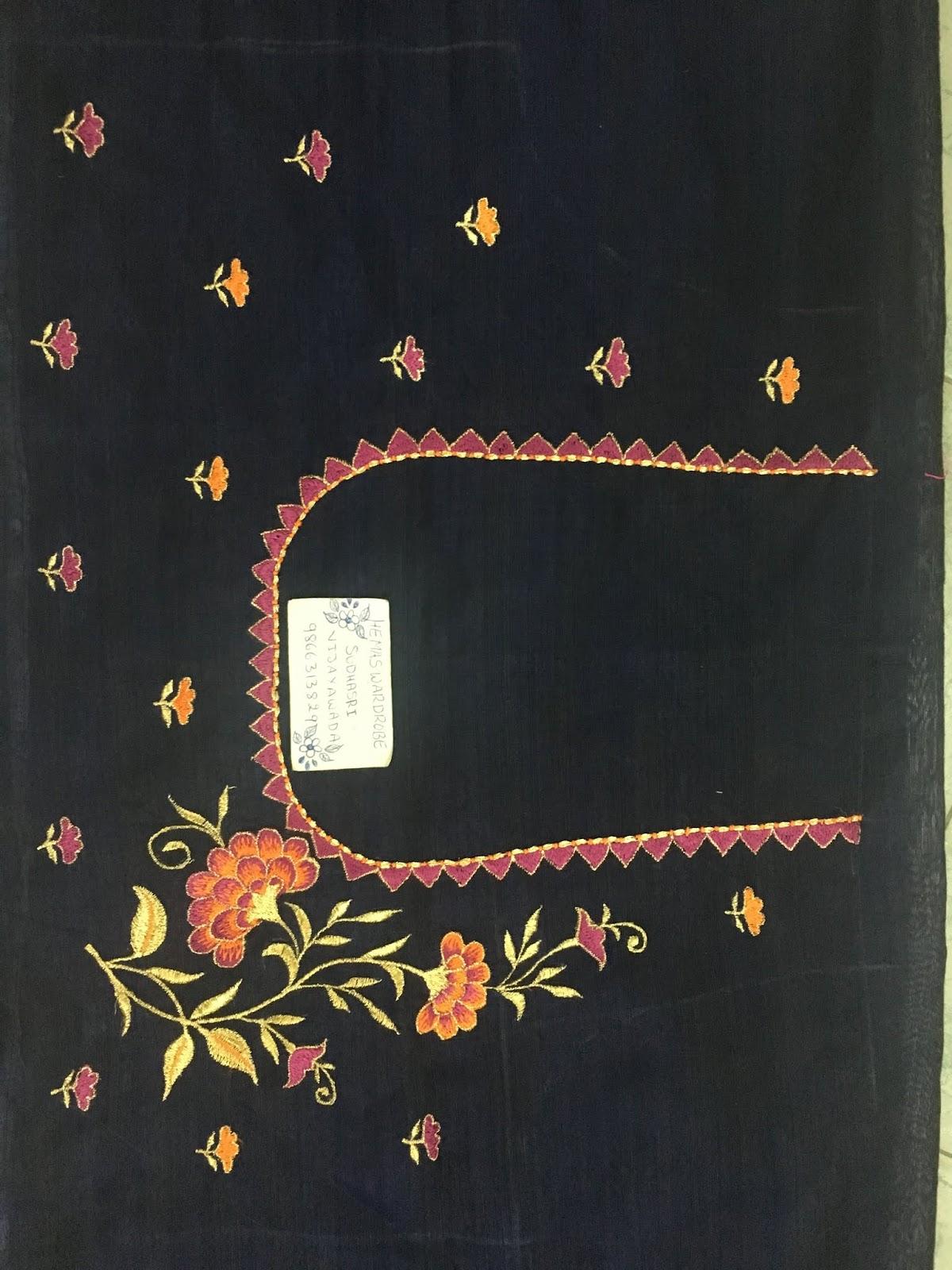 Maggam Work Blouse Designs (164)
