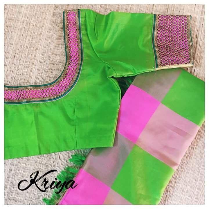 Maggam Work Blouse Designs (203)