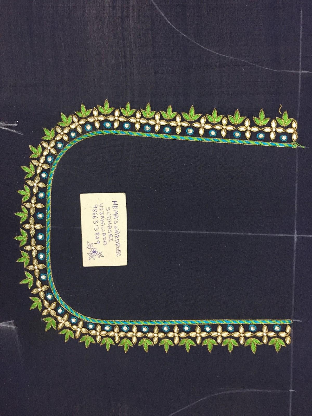 Maggam Work Blouse Designs (243)