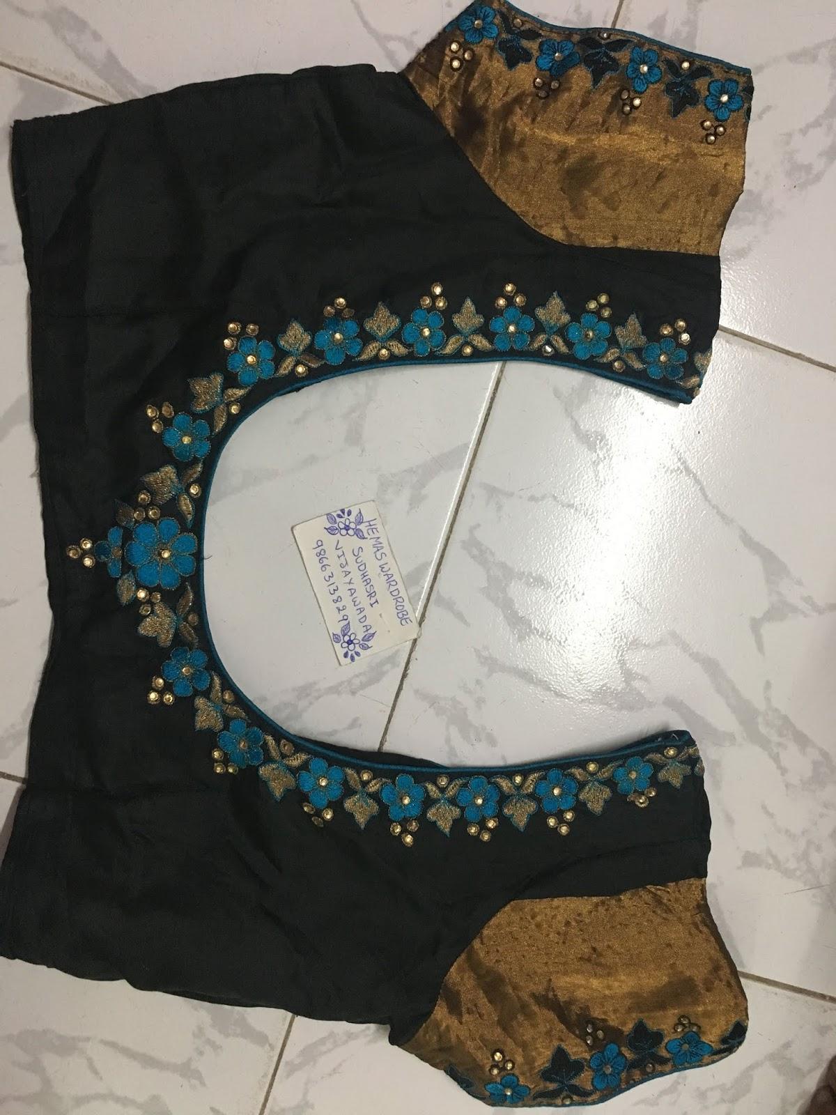Maggam Work Blouse Designs (38)