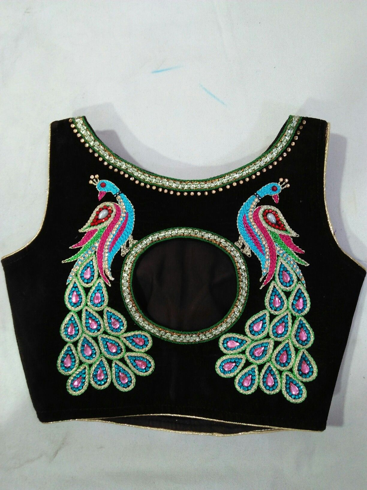 simple maggam work blouse designs