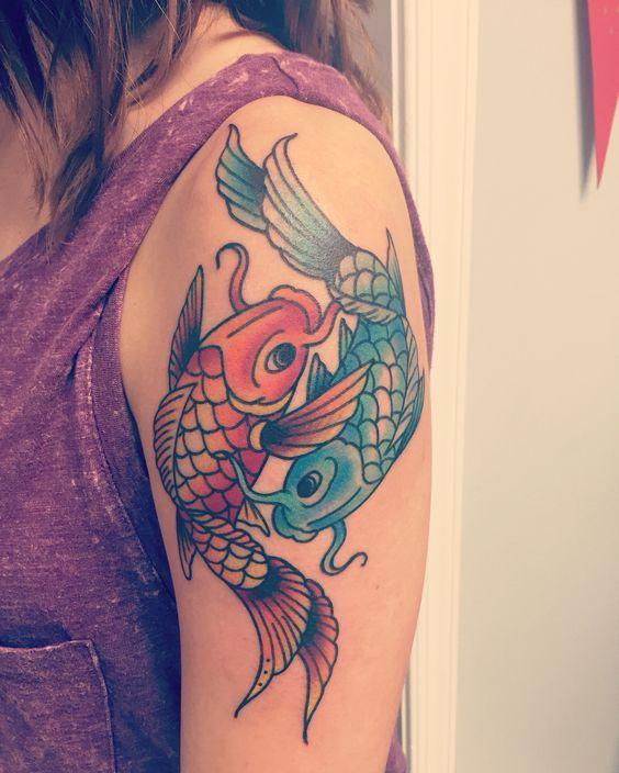 Pisces Horoscope Tattoo Zodiac Sign Fish (119)