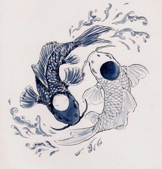 Pisces Horoscope Tattoo Zodiac Sign Fish (128)
