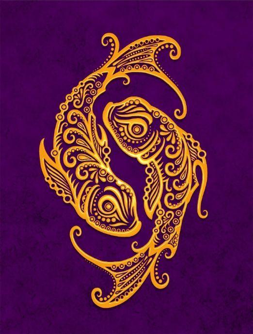 Pisces Horoscope Tattoo Zodiac Sign Fish (13)