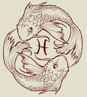 Pisces Horoscope Tattoo Zodiac Sign Fish (130)