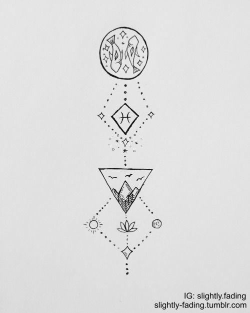 Pisces Horoscope Tattoo Zodiac Sign Fish (160)