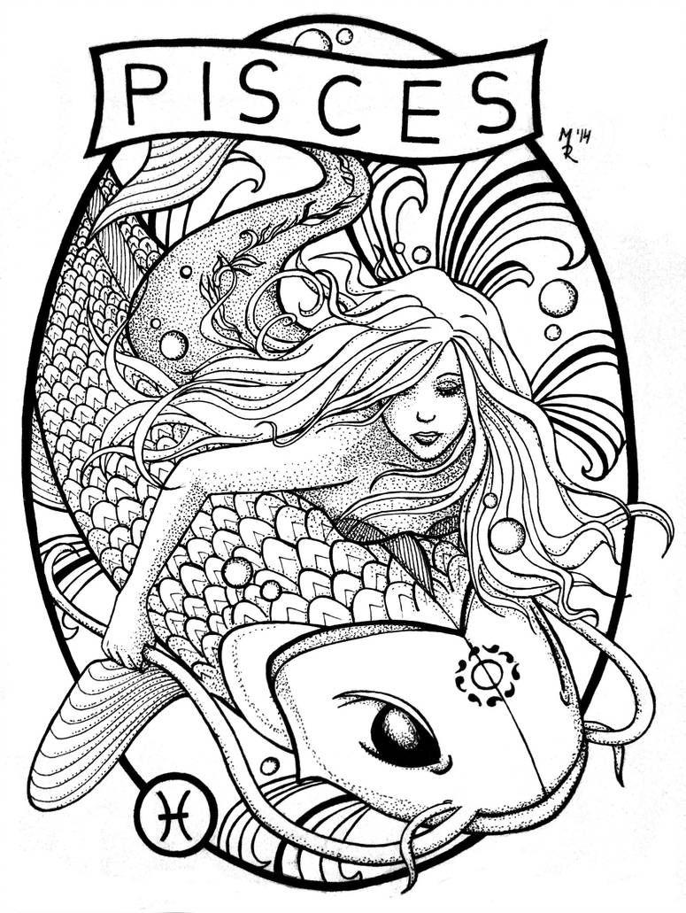 Pisces Horoscope Tattoo Zodiac Sign Fish (164)