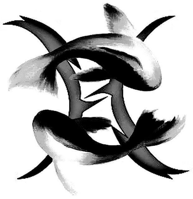Pisces Horoscope Tattoo Zodiac Sign Fish (168)