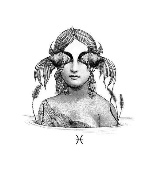 Pisces Horoscope Tattoo Zodiac Sign Fish (180)