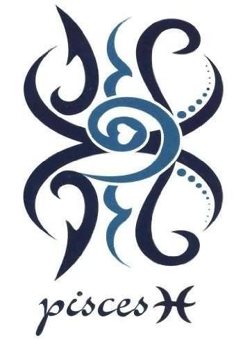 Pisces Horoscope Tattoo Zodiac Sign Fish (52)