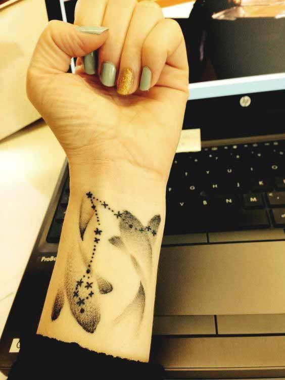 Pisces Horoscope Tattoo Zodiac Sign Fish (64)