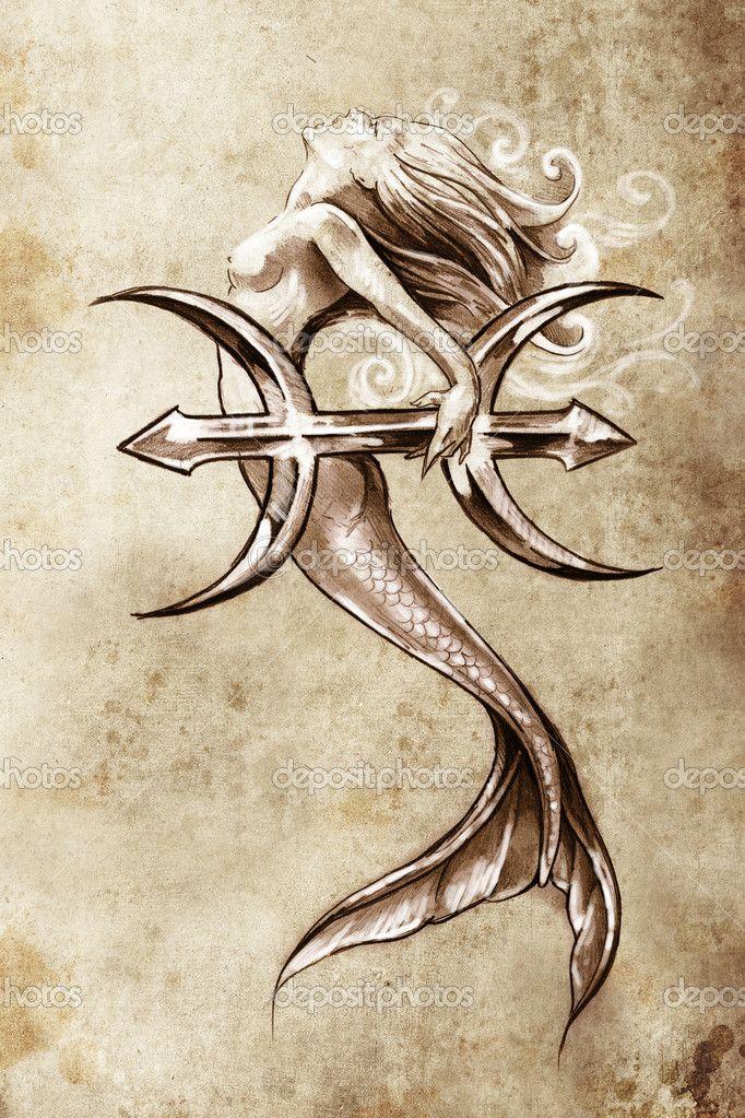 Pisces Horoscope Tattoo Zodiac Sign Fish (83)