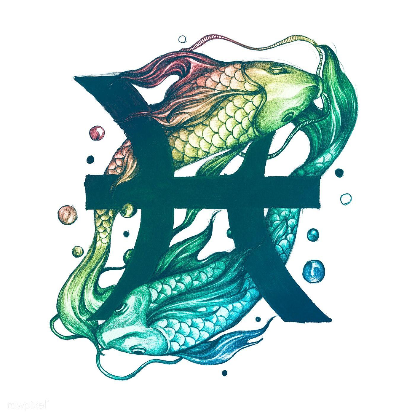 Pisces Horoscope Tattoo Zodiac Sign Fish (84)
