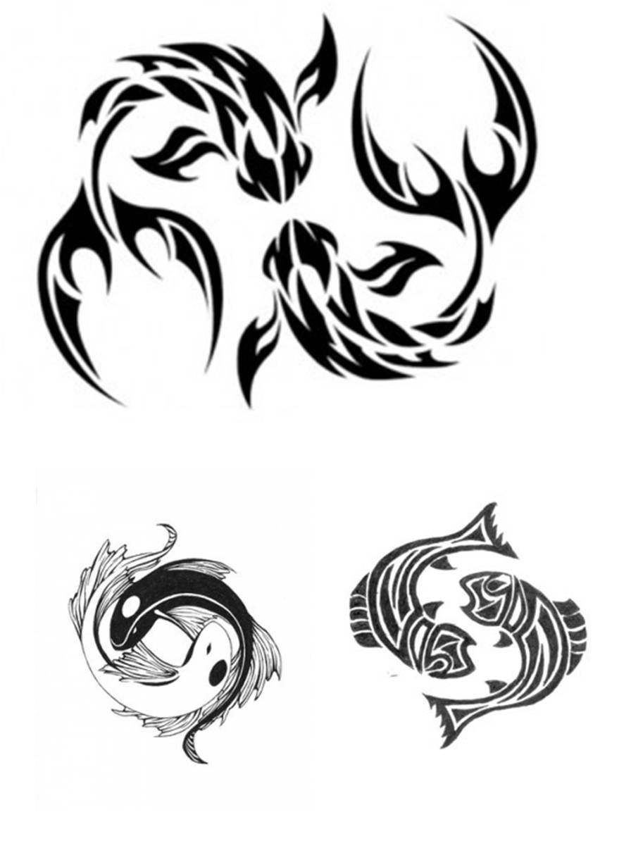 Pisces Horoscope Tattoo Zodiac Sign Fish (87)