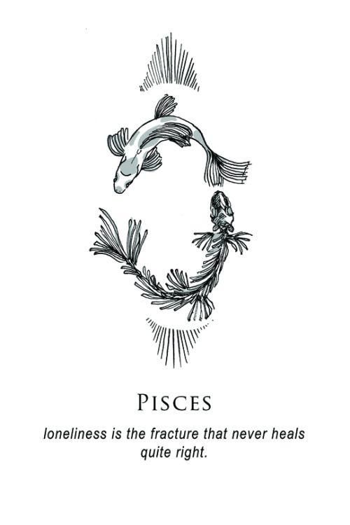 Pisces Horoscope Tattoo Zodiac Sign Fish (91)