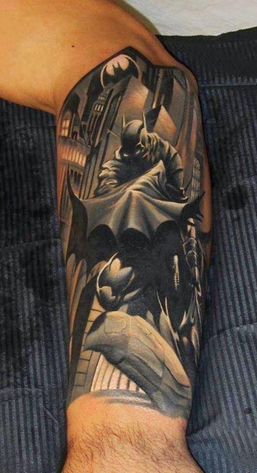 Simple Small Batman Tattoo Designs Ideas (120)