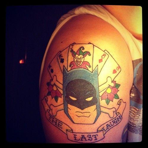 Simple Small Batman Tattoo Designs Ideas (156)