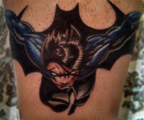 Simple Small Batman Tattoo Designs Ideas (163)
