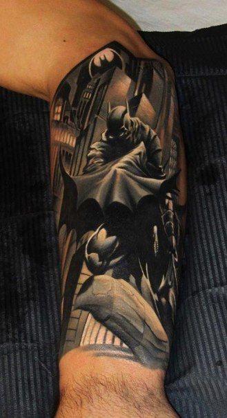 Simple Small Batman Tattoo Designs Ideas (166)