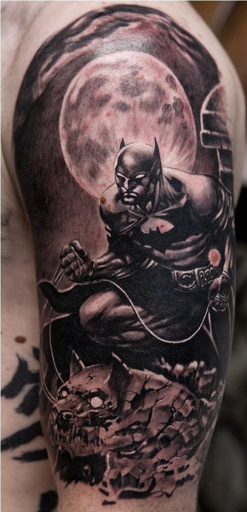 Simple Small Batman Tattoo Designs Ideas (168)