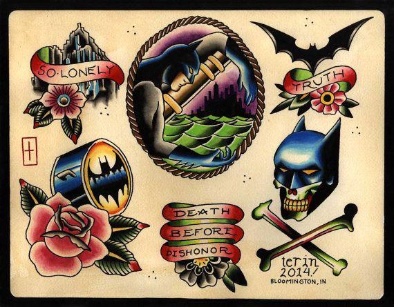 Simple Small Batman Tattoo Designs Ideas (2)