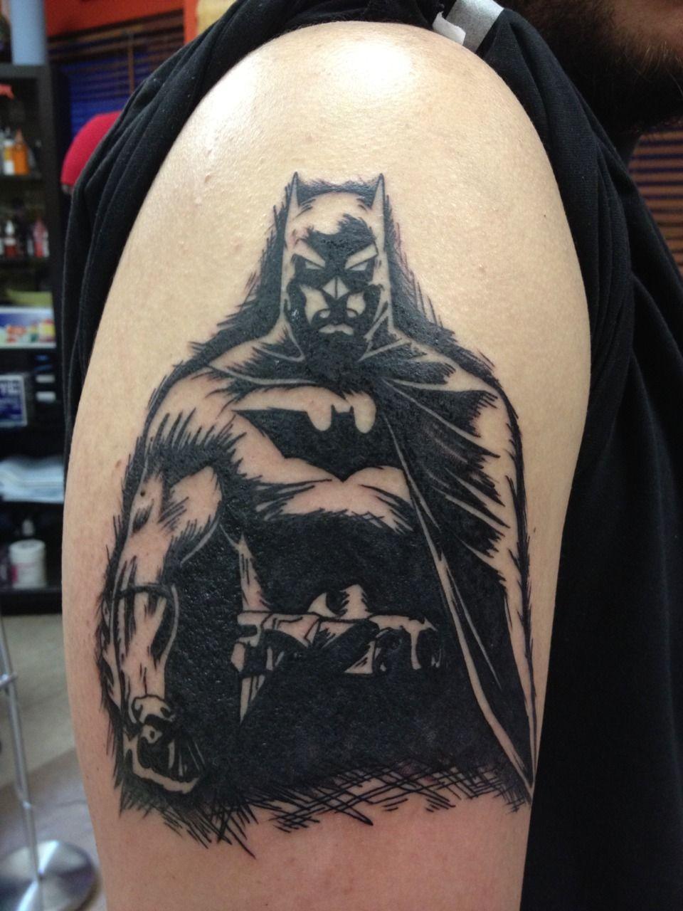 Simple Small Batman Tattoo Designs Ideas (24)