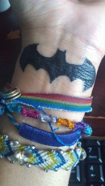 Simple Small Batman Tattoo Designs Ideas (25)