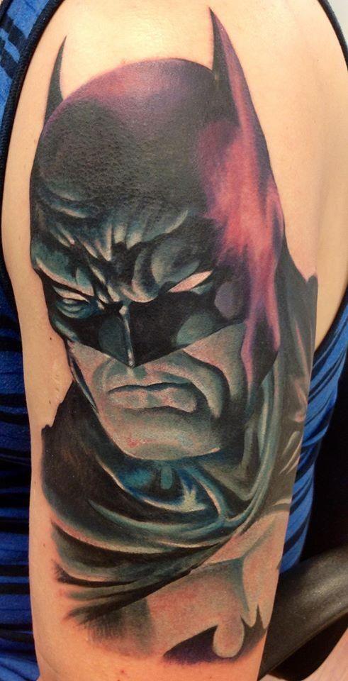 Simple Small Batman Tattoo Designs Ideas (32)
