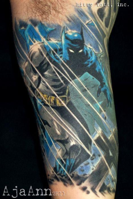 Simple Small Batman Tattoo Designs Ideas (43)