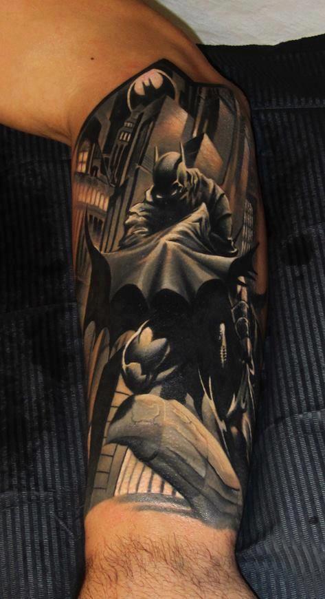 Simple Small Batman Tattoo Designs Ideas (5)