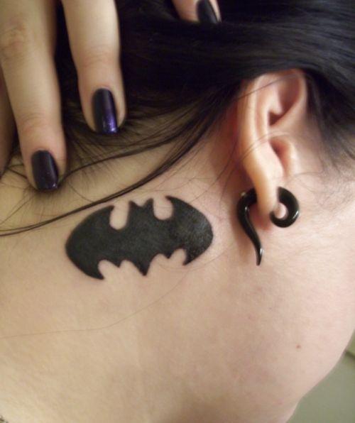 Simple Small Batman Tattoo Designs Ideas (59)