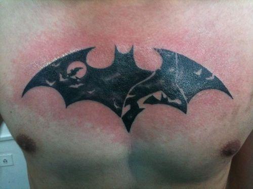 Simple Small Batman Tattoo Designs Ideas (60)