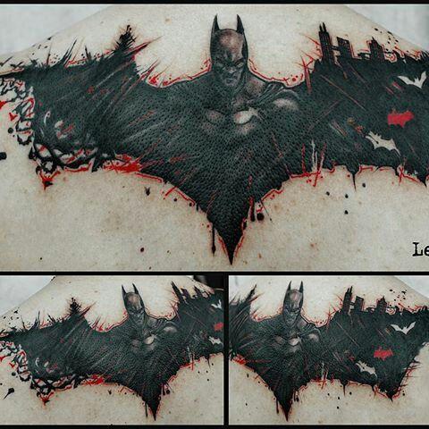 Simple Small Batman Tattoo Designs Ideas (73)
