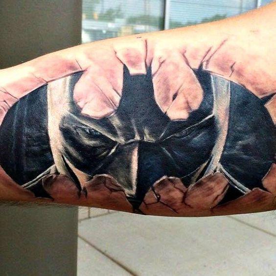 Simple Small Batman Tattoo Designs Ideas (78)