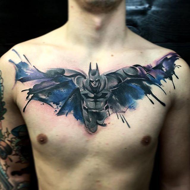 Simple Small Batman Tattoo Designs Ideas (81)