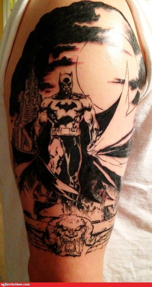 Simple Small Batman Tattoo Designs Ideas (85)